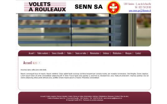 Store Volet à rouleaux Protection Solaire Geneve Suisse